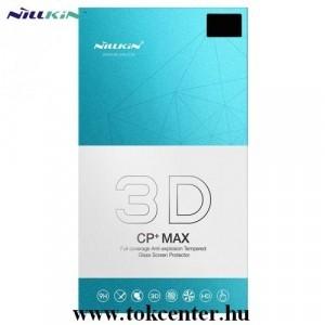 Samsung Galaxy A51 (SM-A515F) NILLKIN CP+MAX képernyővédő üveg (3D, full cover, íves, karcálló, UV szűrés, 0.33mm, 9H) FEKETE