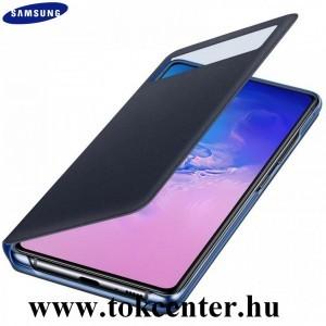 Samsung Galaxy S10 Lite (SM-G770F) Tok álló (aktív flip, oldalra nyíló, hívószámkijelzés, Smart View Cover) FEKETE (EF-EG770PBEG)