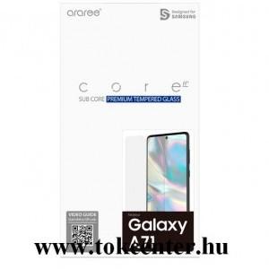 Samsung Galaxy A71 (SM-A715F) Képernyővédő üveg (karcálló, 0.33mm, 9H, NEM íves) ÁTLÁTSZÓ