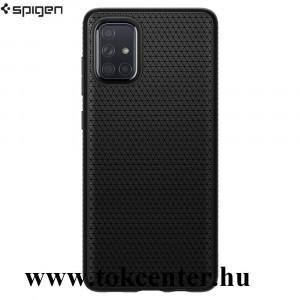 Samsung Galaxy A71 (SM-A715F) SPIGEN LIQUID AIR szilikon telefonvédő (háromszög minta) FEKETE (ACS00602)