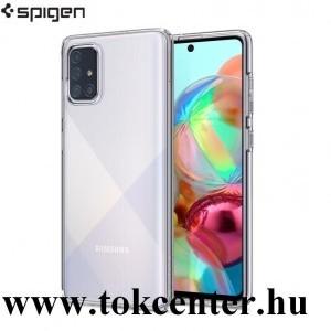 Samsung Galaxy A71 (SM-A715F) SPIGEN LIQUID CRYSTAL szilikon telefonvédő (közepesen ütésálló, légpárnás sarok) ÁTLÁTSZÓ (ACS00566)