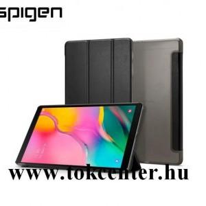Samsung Galaxy Tab A 10.1 LTE (2019) SM-T515 / Samsung Galaxy Tab A 10.1 WIFI (2019) SM-T510 SPIGEN SMART FOLD tok álló, bőr hatású (flip, oldalra nyíló, TRIFOLD asztali tartó funkció) FEKETE