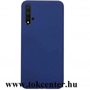 Honor 20 / Huawei Nova 5T Szilikon telefonvédő (matt) SÖTÉTKÉK