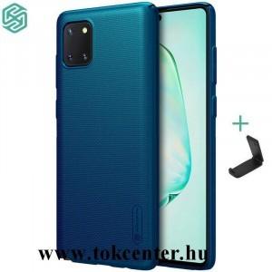 Samsung Galaxy Note 10 Lite (SM-N770F) NILLKIN SUPER FROSTED műanyag telefonvédő (gumírozott, érdes felület + asztali tartó) SÖTÉTKÉK