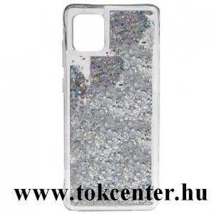 Samsung Galaxy Note 10 Lite (SM-N770F) Szilikon telefonvédő (csillogó gyöngy, folyadék hátlap) EZÜST