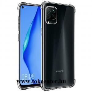 Huawei P40 Lite Szilikon telefonvédő (közepesen ütésálló, légpárnás sarok) ÁTLÁTSZÓ