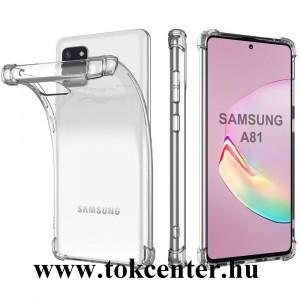 Samsung Galaxy Note 10 Lite (SM-N770F) Szilikon telefonvédő (közepesen ütésálló, légpárnás sarok) ÁTLÁTSZÓ