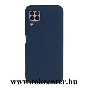 Huawei P40 Lite Szilikon telefonvédő (matt) SÖTÉTKÉK