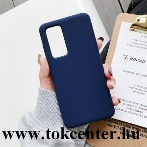 Huawei P40 Szilikon telefonvédő (matt) SÖTÉTKÉK