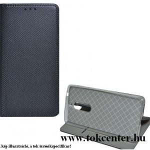 Huawei P40 Lite Tok álló, bőr hatású (FLIP, oldalra nyíló, asztali tartó funkció, rombusz minta) FEKETE