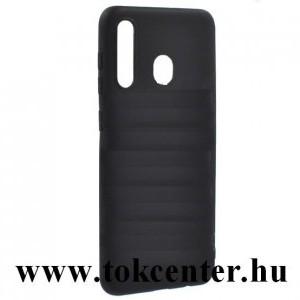 Samsung Galaxy A20 (SM-A205F) / Samsung Galaxy A30 (SM-A305F) Szilikon telefonvédő (matt) FEKETE