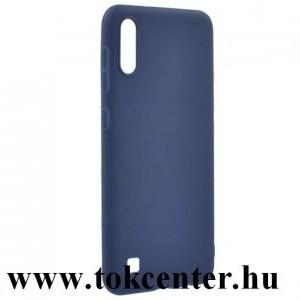 Samsung Galaxy M10 (SM-M105F) Szilikon telefonvédő (matt) SÖTÉTKÉK