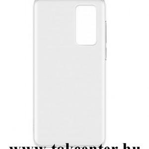 Huawei P40 Pro 5G Műanyag telefonvédő (gumírozott) ÁTLÁTSZÓ