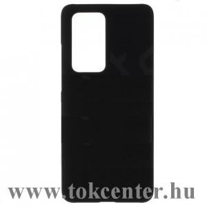 Huawei P40 Pro 5G Műanyag telefonvédő (gumírozott) FEKETE
