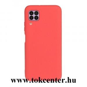 Huawei P40 Lite Szilikon telefonvédő (matt) PIROS