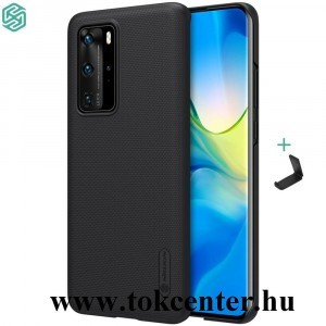 Huawei P40 Pro 5G NILLKIN SUPER FROSTED műanyag telefonvédő (gumírozott, érdes felület + asztali tartó) FEKETE