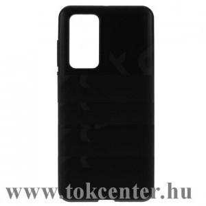 Huawei P40 Pro 5G Szilikon telefonvédő (matt) FEKETE