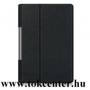 Lenovo Yoga Smart 10.1 (YT-X705F) WIFI / Lenovo Yoga Smart 10.1 (YT-X705L) LTE Tok álló, bőr hatású (aktív flip, oldalra nyíló, asztali tartó funkció) FEKETE