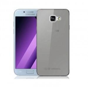 SAMSUNG Galaxy A7 (2017) SM-A720F Szilikon telefonvédő, ultravékony, FEKETE