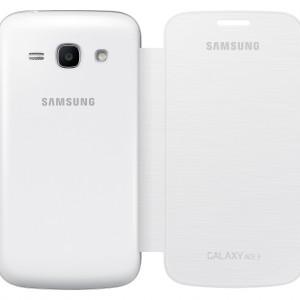 Samsung Galaxy Ace 3 LTE (GT-S7275) Műanyag telefonvédő (FLIP, oldalra nyíló) FEHÉR (EF-FS727LWEGWW)