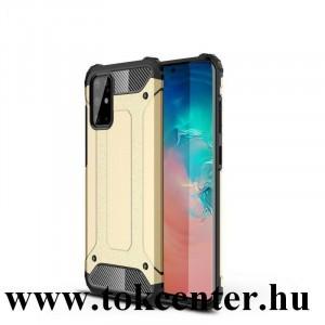 Samsung Galaxy S20 Plus (SM-G985F) / Galaxy S20 Plus 5G (SM-G986) Defender műanyag telefonvédő (közepesen ütésálló, légpárnás sarok, szilikon belső, fémhatás) ARANY