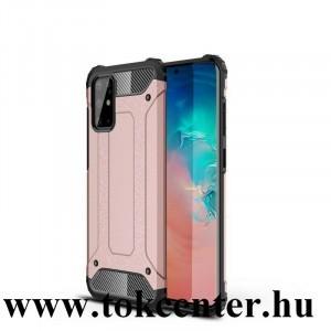 Samsung Galaxy S20 Plus (SM-G985F) / Galaxy S20 Plus 5G (SM-G986) Defender műanyag telefonvédő (közepesen ütésálló, légpárnás sarok, szilikon belső, fémhatás) ROZÉARANY