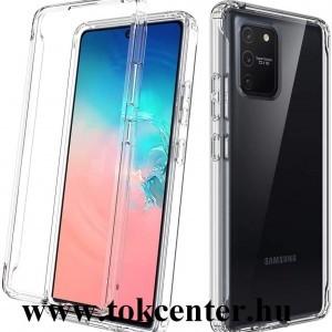 Samsung Galaxy S10 Lite (SM-G770F) Szilikon telefonvédő (közepesen ütésálló, légpárnás sarok) ÁTLÁTSZÓ