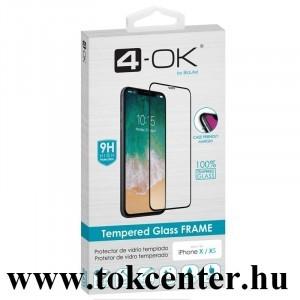 Huawei P40 4-OK képernyővédő üveg (3D full glue, íves, teljes felületén tapad, tok barát, karcálló, 9H) FEKETE