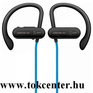 BLUETOOTH fülhallgató SZTEREO (nyakba akasztható, mágneses, mikrofon, felvevő gomb, fülkampó, SPORT) KÉK (GP-OAU019SACLW)