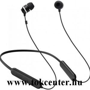 BLUETOOTH fülhallgató SZTEREO (nyakba akasztható, mágneses, mikrofon, felvevő gomb, hangerő szabályzó, SPORT) FEKETE (GP-OAU019SABBW)