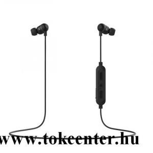 BLUETOOTH fülhallgató SZTEREO (nyakba akasztható, mágneses, mikrofon, felvevő gomb, multipoint, SPORT) FEKETE (GP-OAU019SAABW)