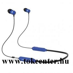BLUETOOTH fülhallgató SZTEREO (nyakba akasztható, mágneses, mikrofon, felvevő gomb, multipoint, SPORT) KÉK (GP-OAU019SABLW)