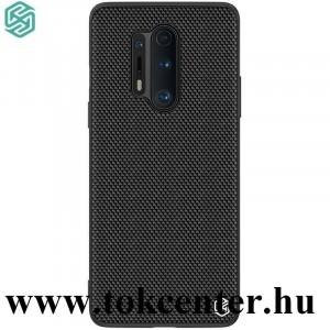 OnePlus 8 Pro 5G NILLKIN TEXTURED műanyag telefonvédő (közepesen ütésálló, szilikon keret, 3D minta) FEKETE