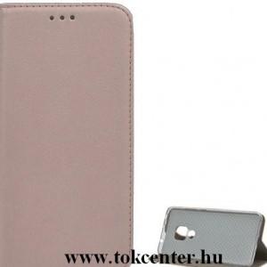 Huawei P40 Lite E / Y7p Tok álló, bőr hatású (FLIP, oldalra nyíló, asztali tartó funkció) ROZÉARANY