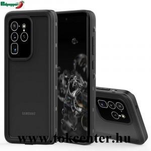 Samsung Galaxy S20 Ultra (SM-G988F) / Galaxy S20 Ultra 5G (SM-G988B) REDPEPPER vízhatlan / vízálló tok, AQUA (2 méterig, IP68, közepesen ütésálló, légpárnás sarok + kézpánt) FEKETE