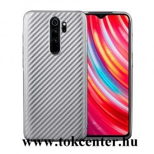Xiaomi Redmi Note 8 Pro Szilikon telefonvédő (karbon minta) EZÜST