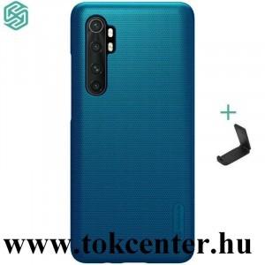 Xiaomi Mi Note 10 Lite NILLKIN SUPER FROSTED műanyag telefonvédő (gumírozott, érdes felület + asztali tartó) SÖTÉTKÉK