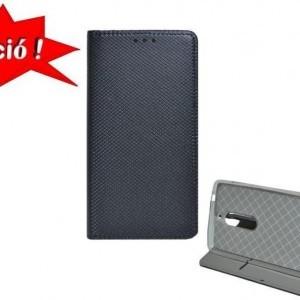 Huawei P20 Tok álló, bőr (FLIP, oldalra nyíló, asztali tartó funkció, rombuszminta) FEKETE