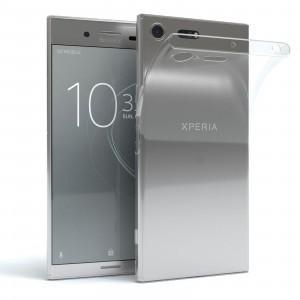 Sony Xperia XZ Premium G8141 szilikon telefon tok, matt, fényes keret, átlátszó