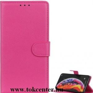 Samsung Galaxy M01 (SM-M015F) Tok álló, bőr hatású (FLIP, oldalra nyíló, asztali tartó funkció) RÓZSASZÍN
