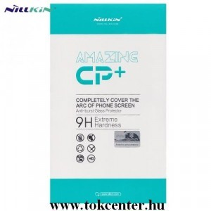 Honor X10 5G NILLKIN CP+ képernyővédő üveg (2.5D kerekített szél, íves, full glue, karcálló, UV szűrés, 0.33mm, 9H) FEKETE