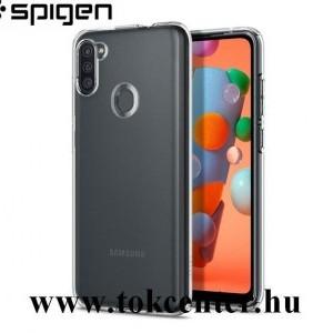 Samsung Galaxy A11 (SM-A115F) SPIGEN LIQUID CRYSTAL szilikon telefonvédő (közepesen ütésálló, légpárnás sarok) ÁTLÁTSZÓ (ACS00856)