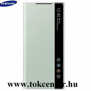 Samsung Galaxy Note 20 (SM-N980F) / Note 20 5G (SM-N981F) Gyári Tok álló (aktív flip, oldalra nyíló, Clear View Cover) MENTAZÖLD (EF-ZN980CMEGEU)