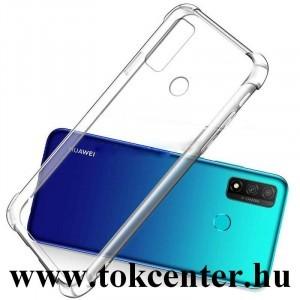 Huawei P Smart (2020) Szilikon telefonvédő (közepesen ütésálló, légpárnás sarok) ÁTLÁTSZÓ