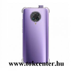 Xiaomi Pocophone F2 Pro Szilikon telefonvédő (közepesen ütésálló, légpárnás sarok) ÁTLÁTSZÓ