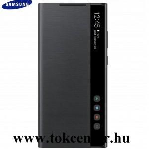 Samsung Galaxy Note 20 Ultra (SM-N985F) / Note 20 Ultra 5G (SM-N986F) Gyári Tok álló (aktív flip, oldalra nyíló, Clear View Cover) FEKETE (EF-ZN985CBEGEU)