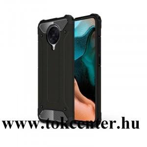 Xiaomi Pocophone F2 Pro Defender műanyag telefonvédő (közepesen ütésálló, légpárnás sarok, szilikon belső, fémhatás) FEKETE