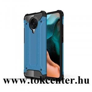Xiaomi Pocophone F2 Pro Defender műanyag telefonvédő (közepesen ütésálló, légpárnás sarok, szilikon belső, fémhatás) VILÁGOSKÉK