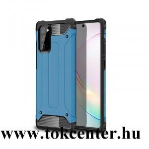 Samsung Galaxy Note 20 (SM-N980F) / Note 20 5G (SM-N981F) Defender műanyag telefonvédő (közepesen ütésálló, légpárnás sarok, szilikon belső, fémhatás) VILÁGOSKÉK