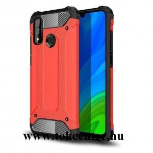 Huawei P Smart (2020) Defender műanyag telefonvédő (közepesen ütésálló, légpárnás sarok, szilikon belső, fémhatás) PIROS